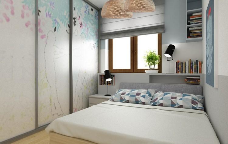 Schmaler Schrank Mit Schiebetüren   Kleines Schlafzimmer Einrichten   25 Ideen Für Raumplanung
