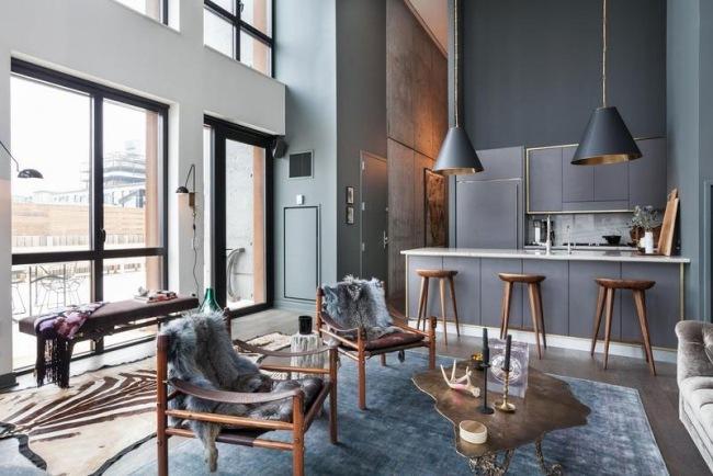 Moderne Wohnung in New York mit schicker Einrichtung und Deko