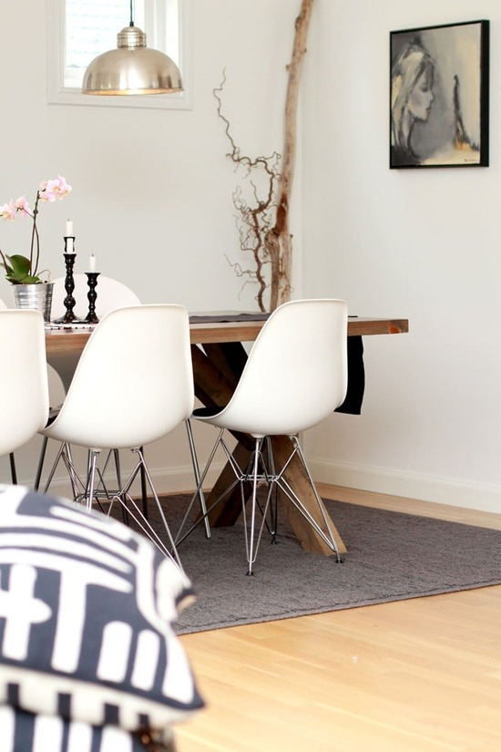 Plastik Sitzmobel Esszimmer Interieur In Rustikalem Design