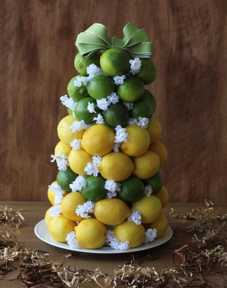 Sommerdeko selber basteln  Ideen mit Zitronen fr den Tisch