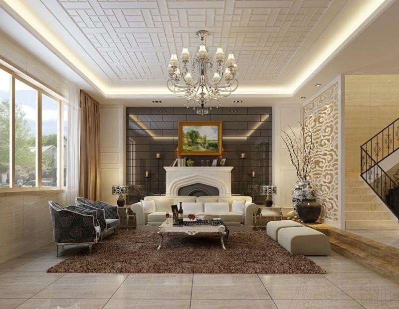 Wohnzimmer Decken Gestalten