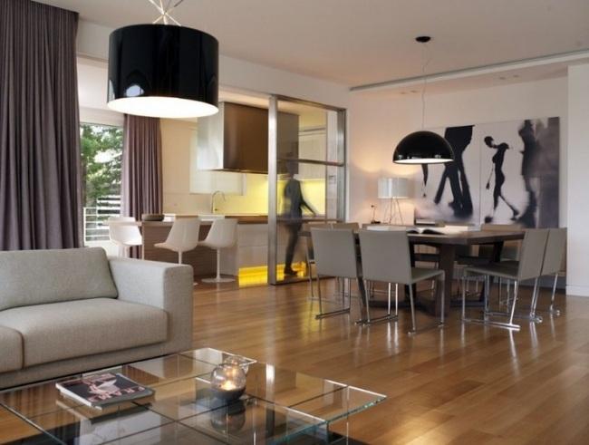 Küche Esszimmer Wohnzimmer In Einem Raum Grundriss | Der ...