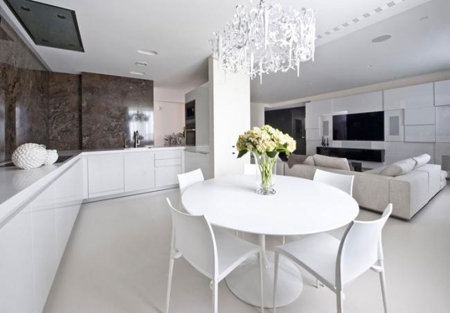 Wohnzimmer und Kche in einem Raum  Gestaltungsideen