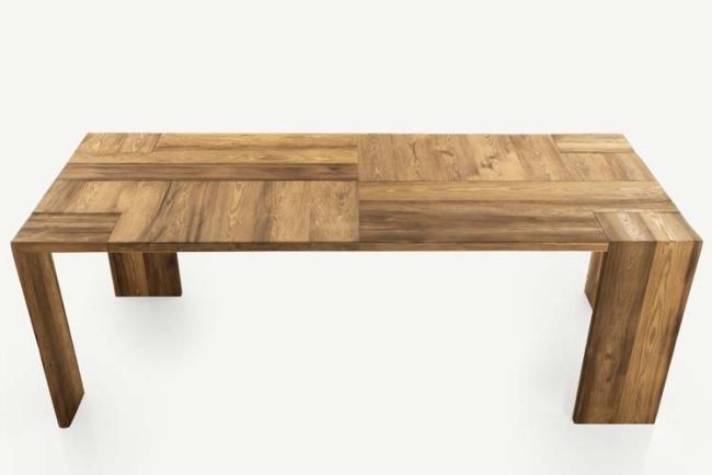 Massivholz Tische erobern den Wohnraum wieder Giuseppe Pruneri Design
