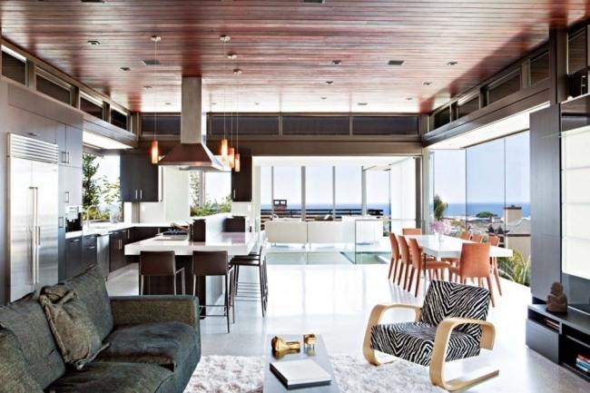 Zeitgenssisches Haus mit Holz Fassadenverkleidung von Studio 9one2