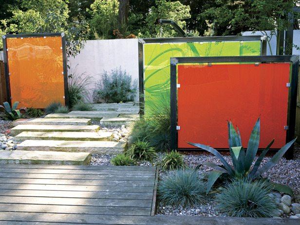 Paravent Abteilung Beton Metall Kunststoff Sichtschutz