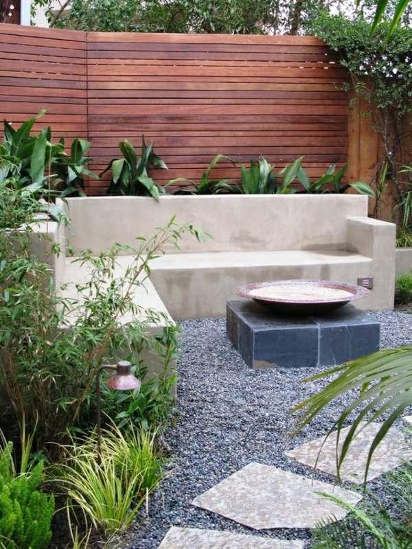 brunnen fur gartenmauer sichtschutz zaun oder gartenmauer ideen fr, Garten und Bauten