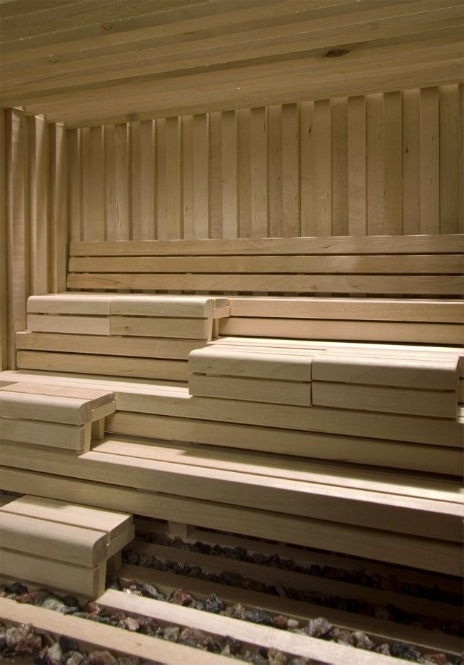 Relax in der finnischen Blockhaus Sauna von Studio Markunpoika