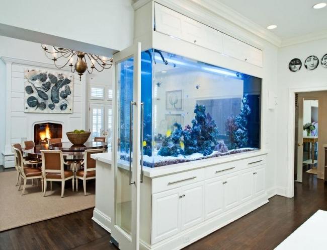wohnzimmer einrichten aquarium - meuble garten - Aquarium Wohnzimmer