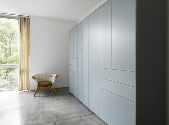 Griff freie Kleiderschrank Designs im minimalistischen