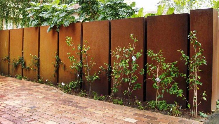 gartenzaun holz und metall reimplica moderne - boisholz,