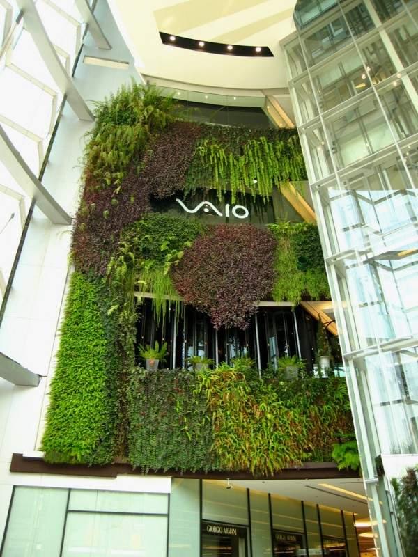 Begrunte Wand Bungalow Pultdach 123 Luxhaus Kundenhaus