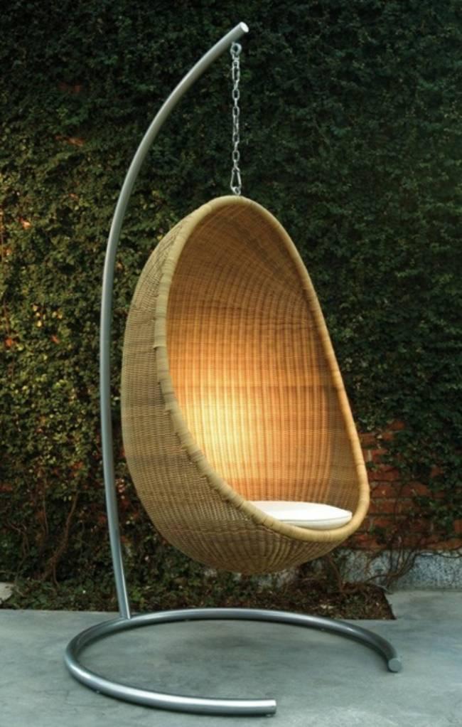 Hngesessel aus Rattan fr mehr Komfort und Entspannung im Garten