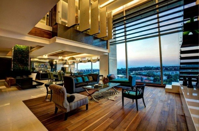 Penthouse Wohnung mit moderner Einrichtung  Leben im Luxus