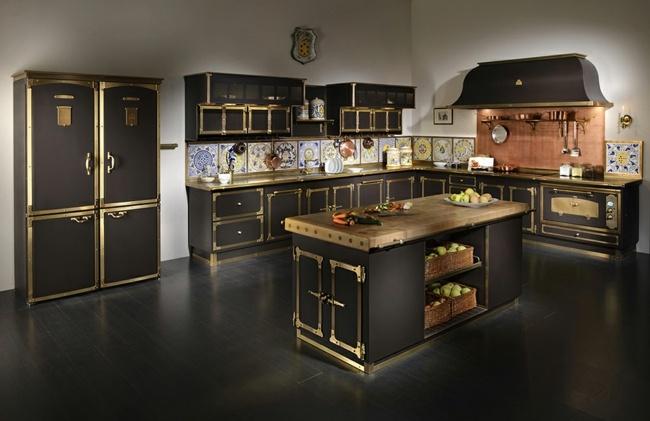 average size of kitchen sink replacement doors for cabinets italienische küche aus metall – landhausstil trifft ...