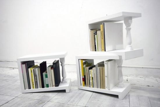 Unkonventionelle Bcherregal Designs dienen als Akzent im