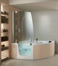Ergonomische Eck-Badewanne mit Dusche und Whirlpool ...