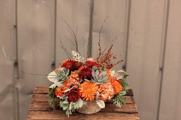 Deko mit Herbstblumen  40 schne Ideen zum Selbermachen