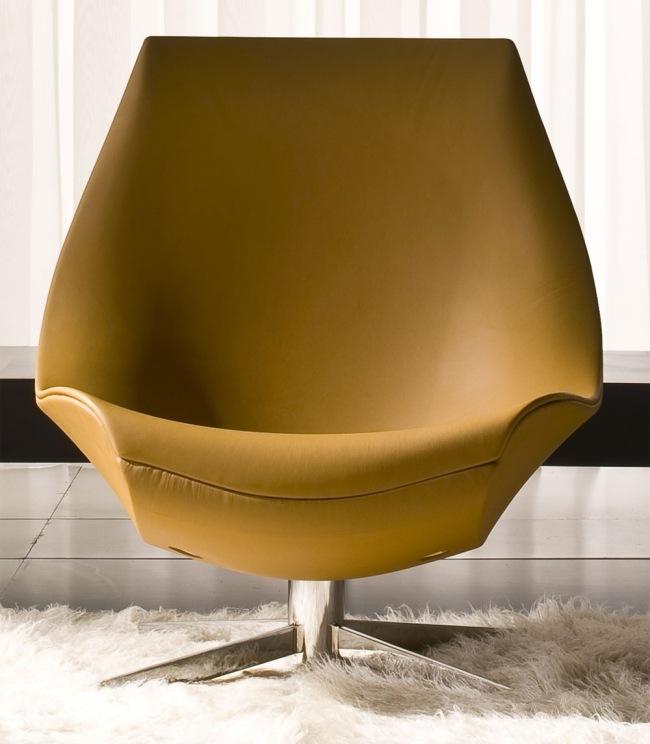 Oyster  Lounge Sessel in zeitgenssischem Stil von Italy