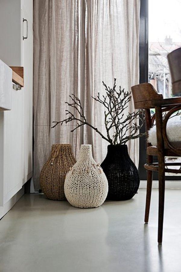 Gemtlichkeit zu Hause mit Strick Woll und Fellmbeln