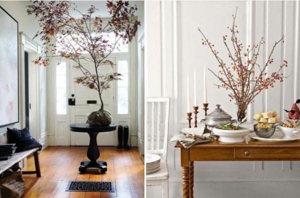 HerbstDeko mit Zweigen sten  Herbstlaub  39 tolle Ideen