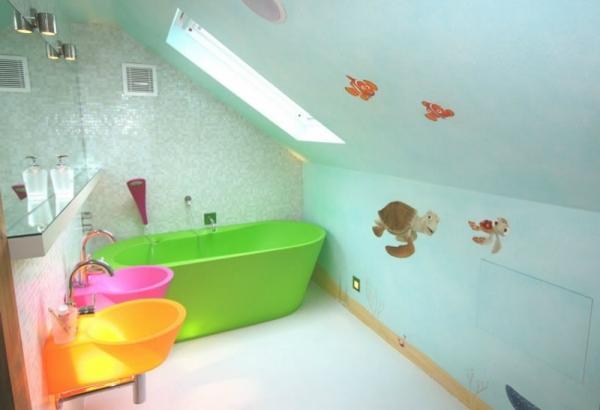 Krftige Farben im Badezimmer  Wohnideen fr