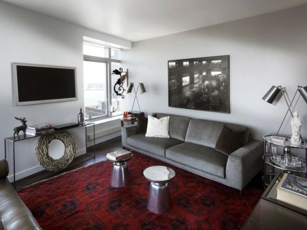 20 eklektische Wohnzimmer Wohnideen  Farben wirkungsvoll kombinieren