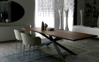 Modernes Esstisch Design von Cattelan Italia   Stahlfuß ...