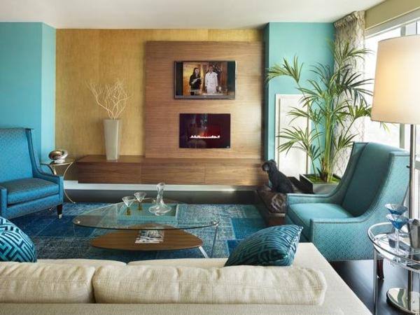 wohnzimmer grau grun braun haus design ideen