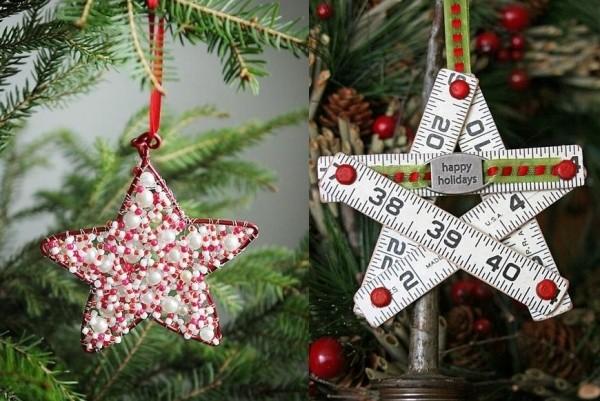 Weihnachtsdeko mit Sternen  Attraktiven Schmuck basteln