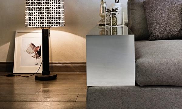 Design Sofa Plat von Arketipo mit integriertem Regal und Beistelltisch