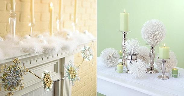 Kamin zu Weihnachten dekorieren  schne Ideen basteln