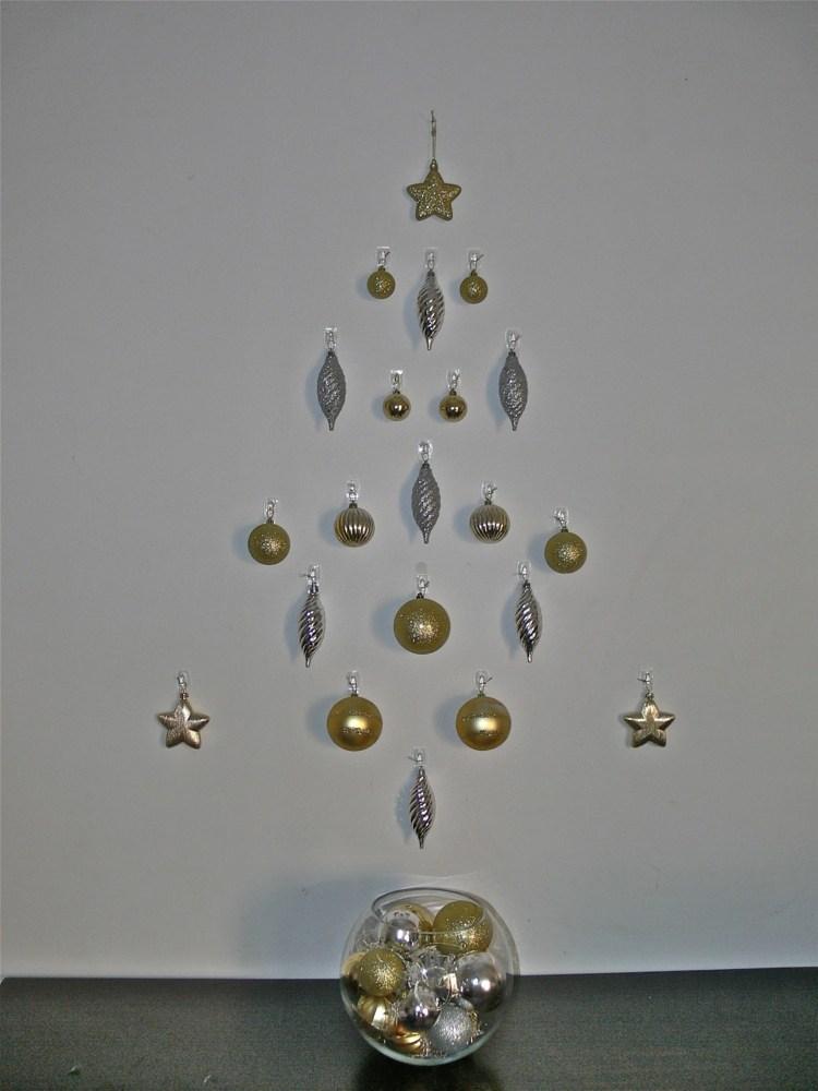 Weihnachten Wanddeko  Bume und Sterne aus Girlanden