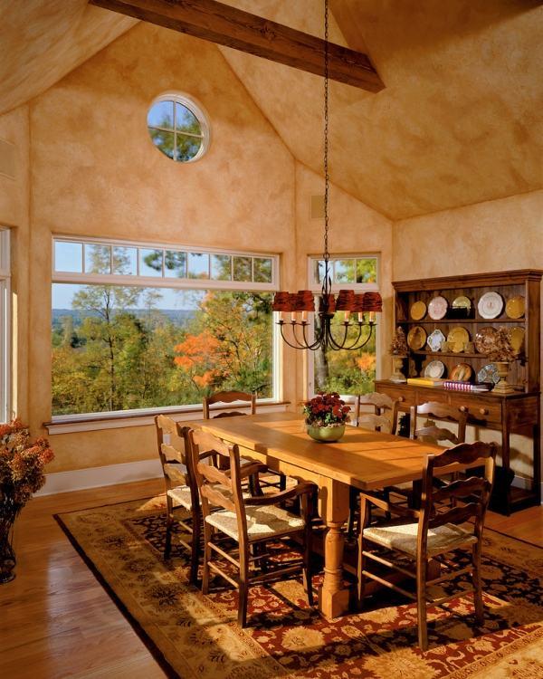 Moderne Einrichtung mit rustikalem Wohnkonzept im Stil der Toskana
