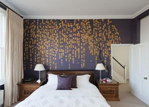 Handgewebte Tapeten mit Blumenmuster strahlen klassische Eleganz aus