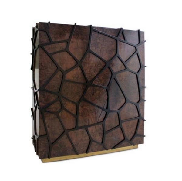 Designer Schrank aus Holz Orion erinnert an das