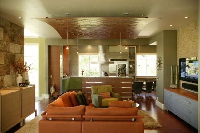 Abgehängte Holzdecke 30 Ideen Für Moderne Deckengestaltung ...