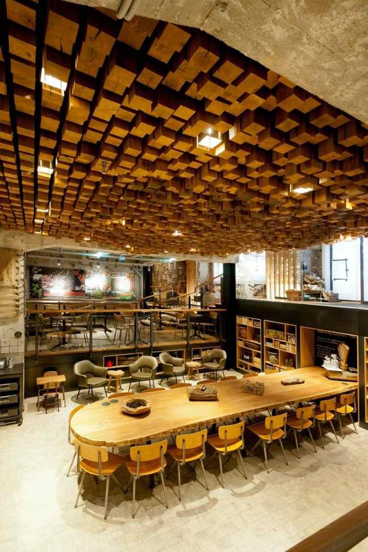 Deckengestaltung Abgehangte Holzdecke | Möbelideen