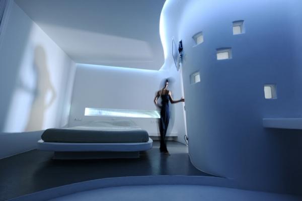 Futuristische Einrichtung  wie sieht das Interieur der
