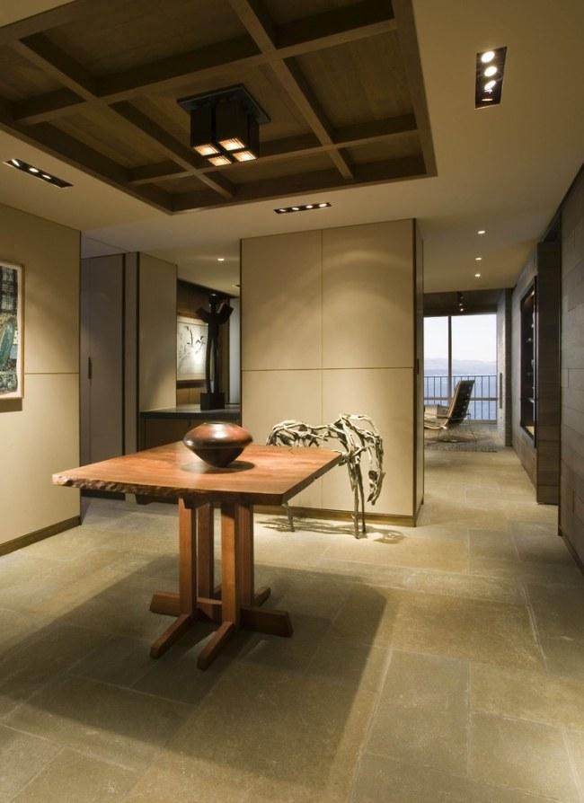 Abgehngte Holzdecke  30 Ideen fr moderne Deckengestaltung