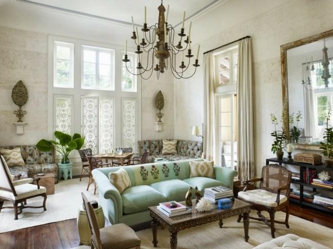 Eklektische Einrichtung -klassischen Und Modernen Wohnstil