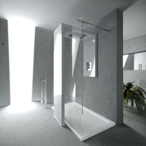 Begehbare Dusche mit integriertem Heizkrper als