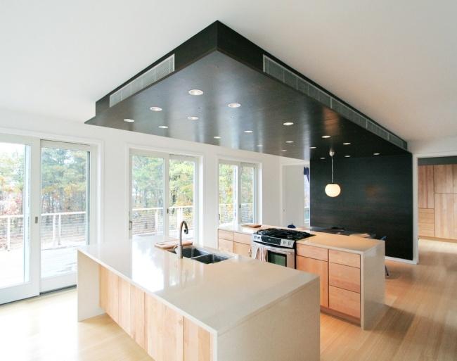 Holzdecke Modern Hell Wohnen Ideen