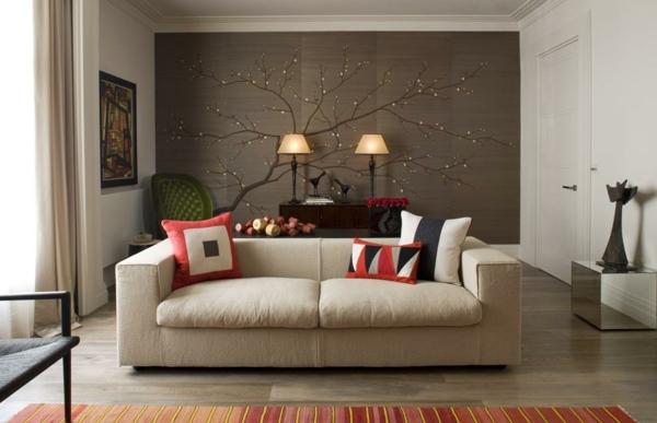 Handgewebte Tapeten mit Blumenmuster strahlen klassische