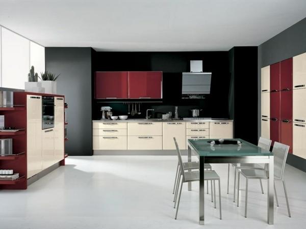 wei kuche modern kochinsel kuchenzeile einbaukuche - boisholz, Kuchen