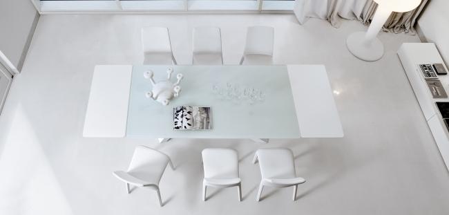 esstisch glas platte bonaldo minimalistische esszimmer, Esszimmer dekoo