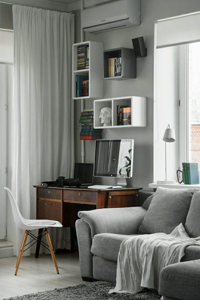 Kleine Wohnung im skandinavischen Wohnstil einrichten und dekorieren