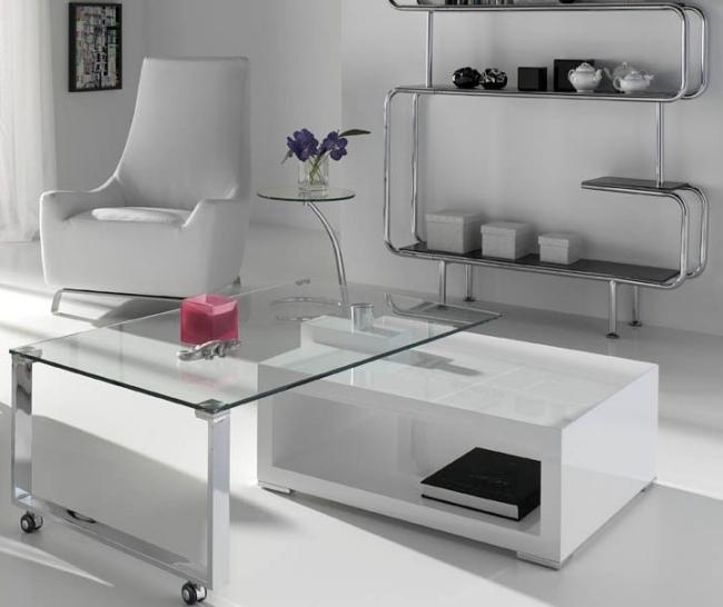 glas und wei couchtisch design ideen fur das moderne wohnzimmer, Mobel ideea