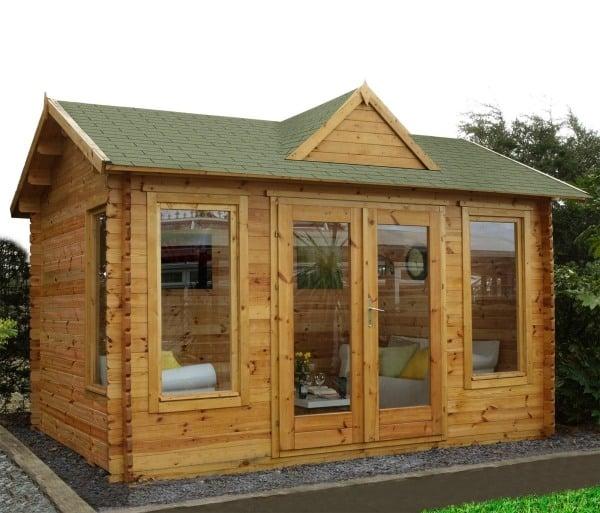 Holz Gartenhaus dmmen  Das Material und was noch zu