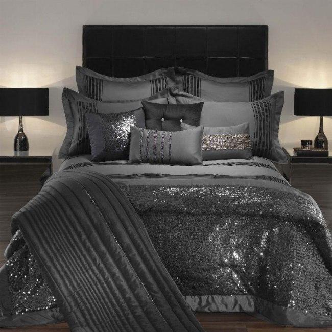 Luxus Bettwsche von Kylie Minogue  Satin Pailetten und